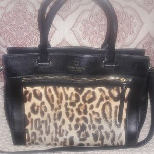 Kate spade leopard hair and leather purse